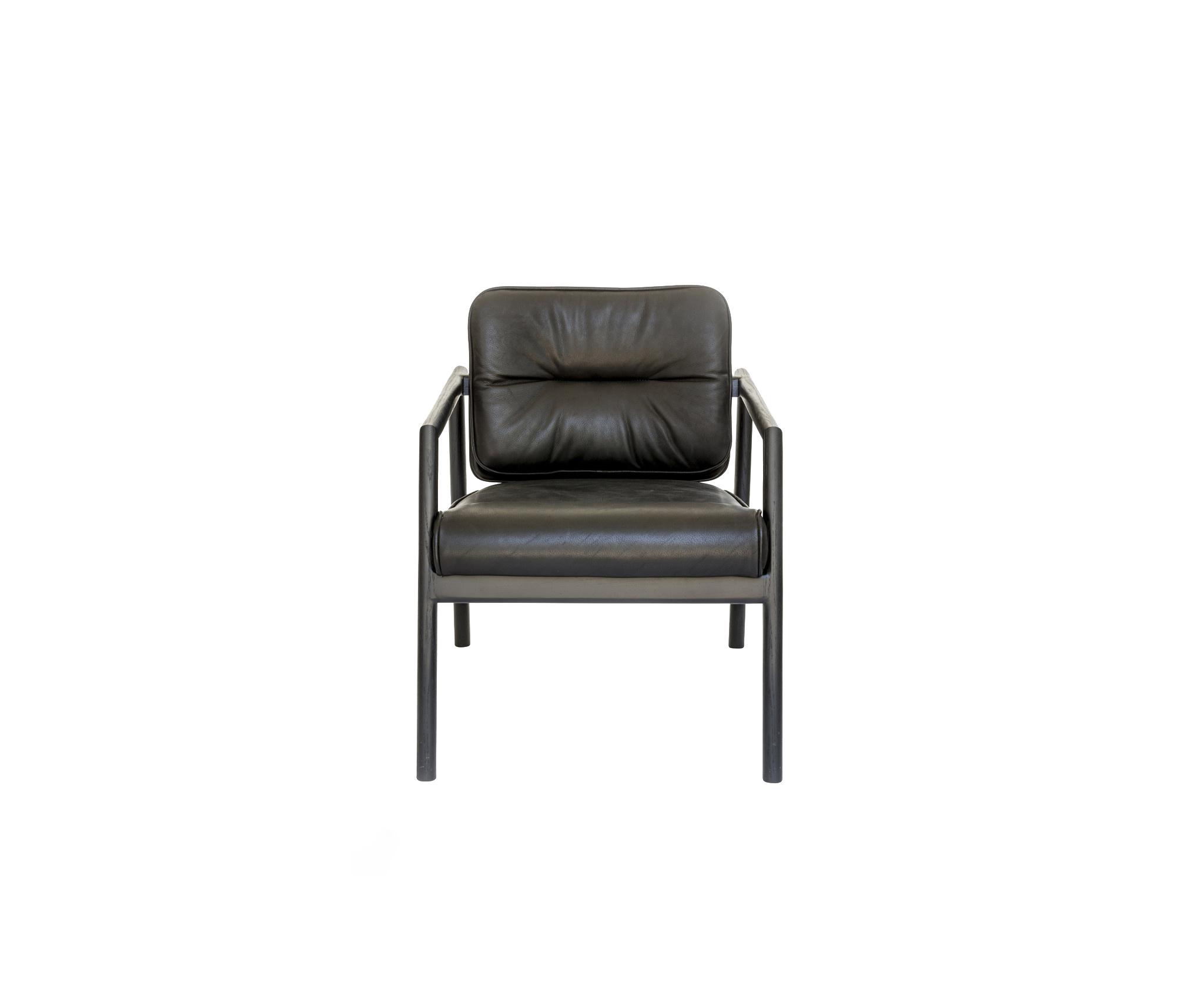 Chris Earl Ebonized Oak Moresby Arm Chair