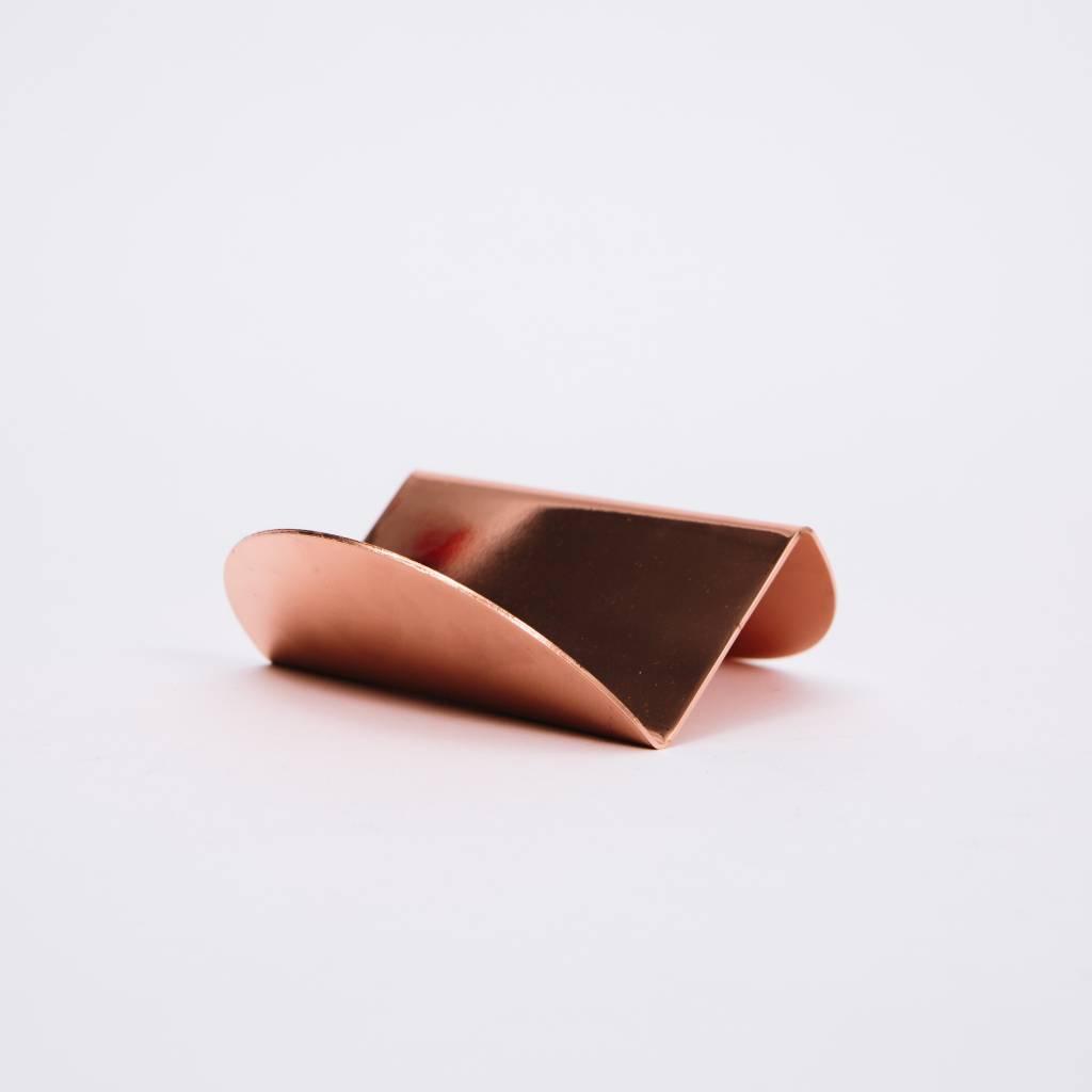 Souda Wave Business Card Holder, Copper