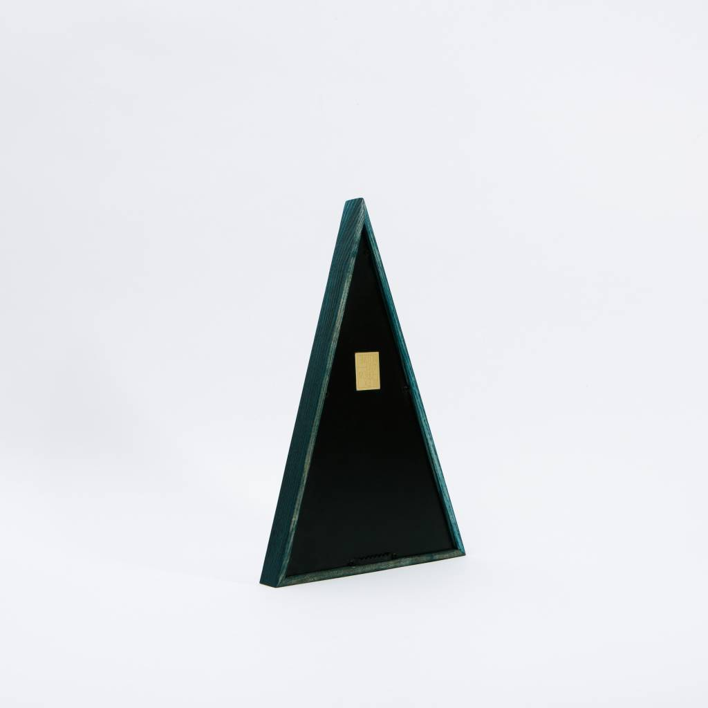 "Alex Drew & No One ""Phthalo Isosceles"" dyed phthalo green, recessed mirror back"