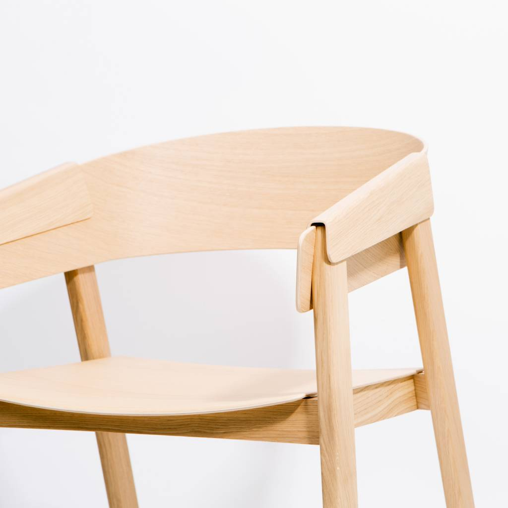 Muuto Cover Armchair Chair      - Oak