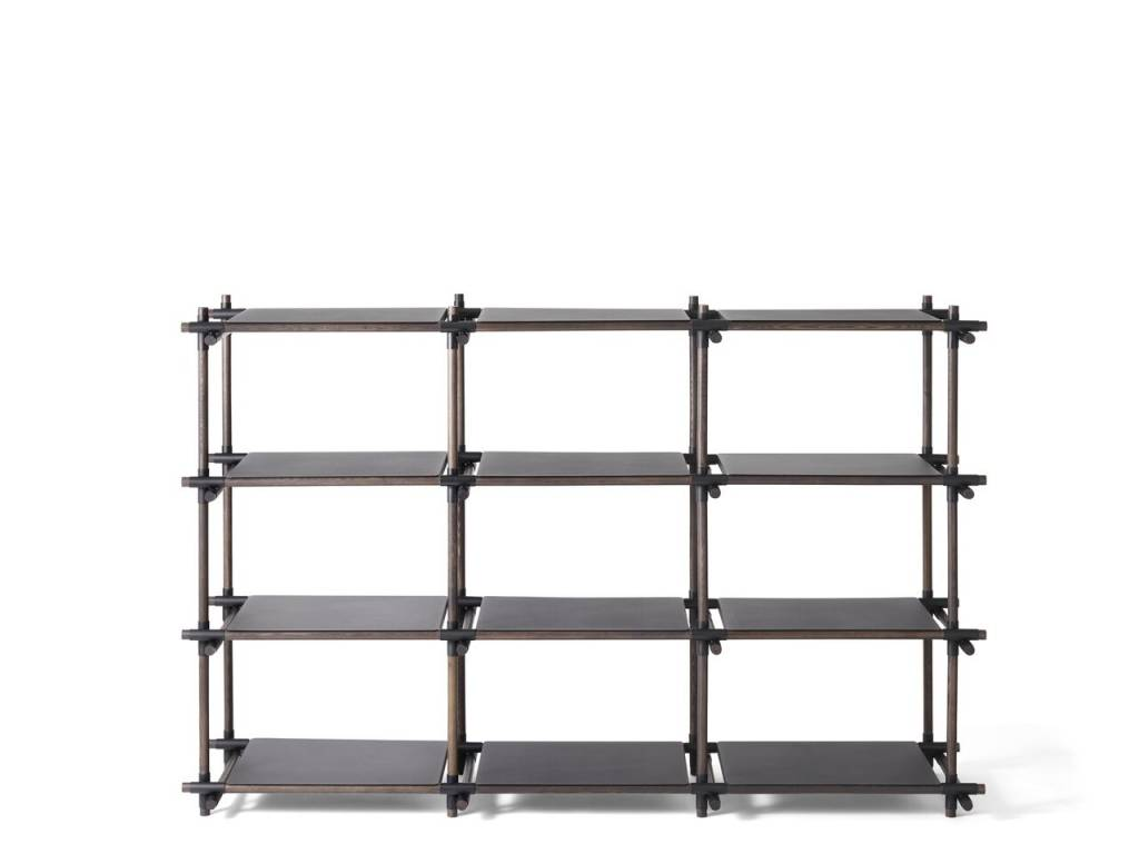Menu Menu Stick System Shelving Black/Dark Ash