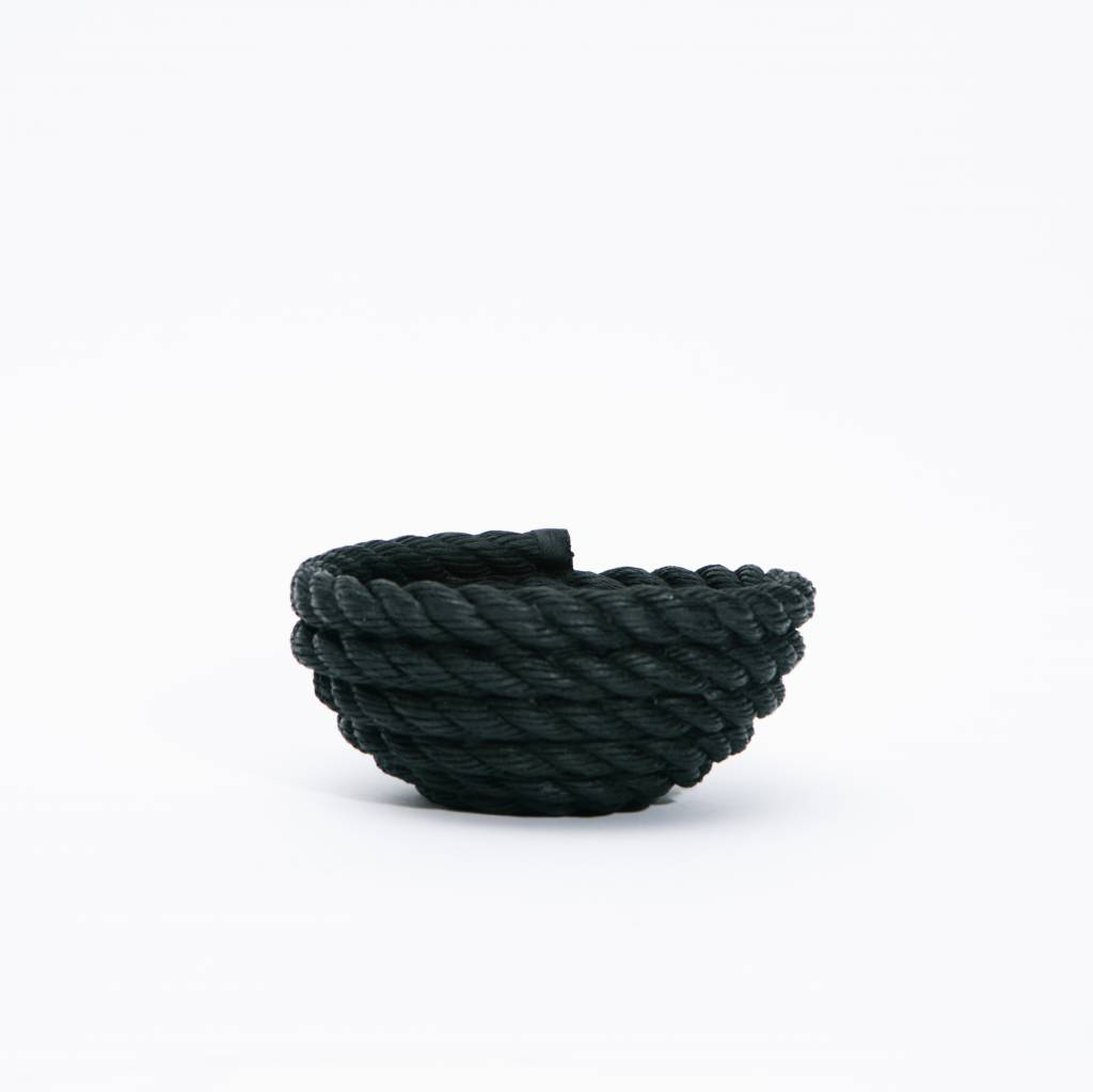 Areaware Reality Coil Rope Bowl - Black