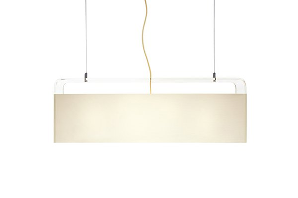 "Pablo Designs Tube Top Pendant 36"" (White Shade, Clear Body)"