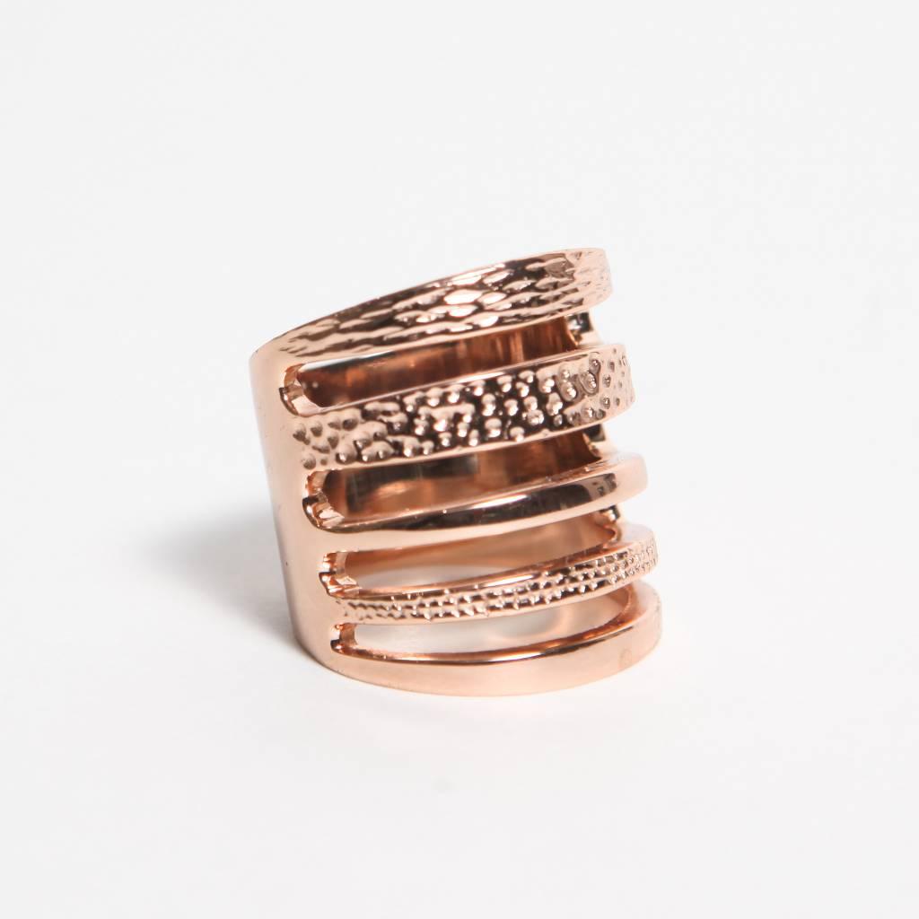 Pamela Love Single Cage Ring - Rose Gold Over Sterling Size 7