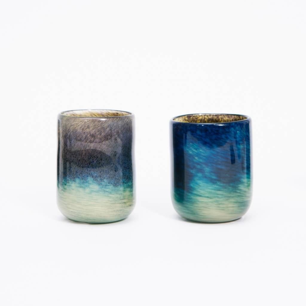 David Gibson Hand Blown Glass Tumblers
