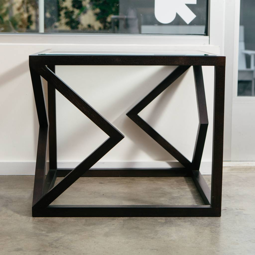 Alex Drew & No One Two Diamonds Side Table in Ebonized Walnut