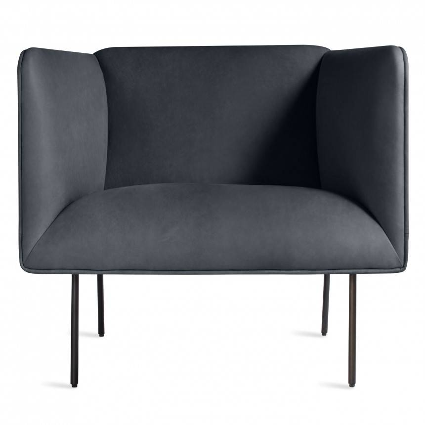Blu Dot Dandy Leather Lounge Chair