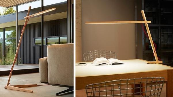 Pablo Designs Clamp Lamp - Mini, White Oak