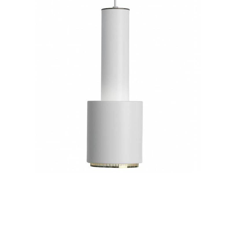 Artek A110 white/brass ring Pendant