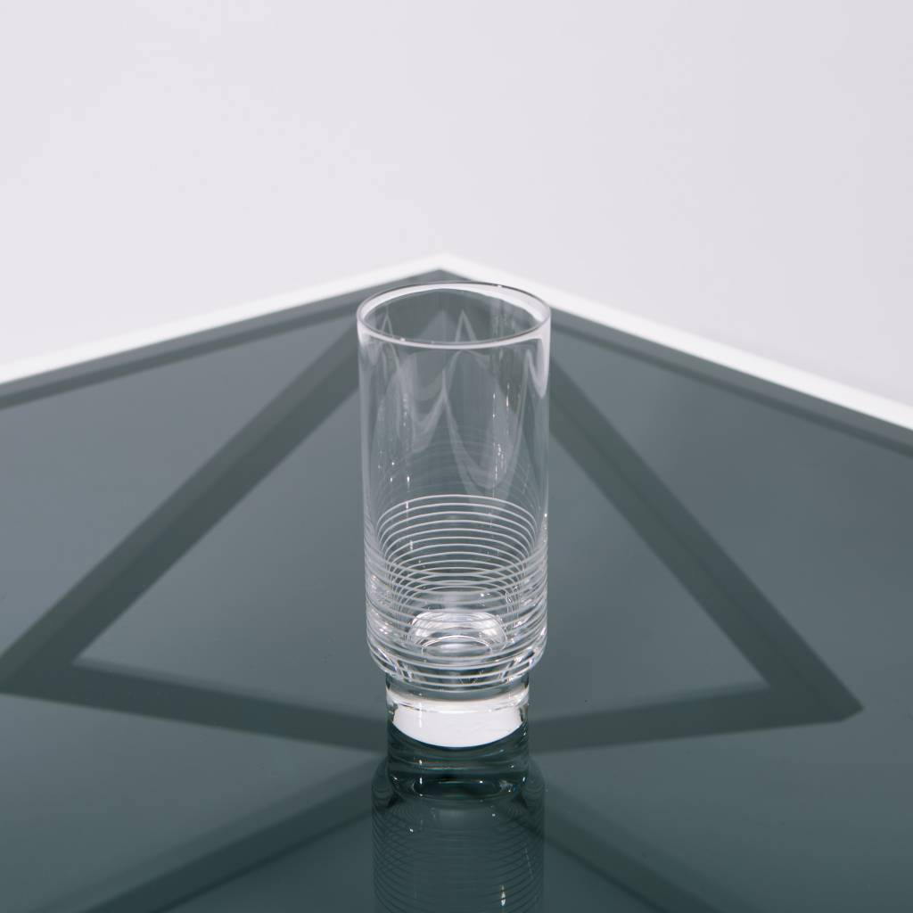 Kontextur Tumbler High, Set of 4, Hand Blown and Hand Etched Crystal, 14 fl oz