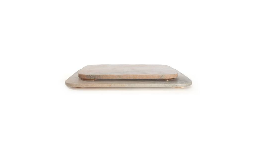 Hawkins NY Mara Marble + Copper Serving Board