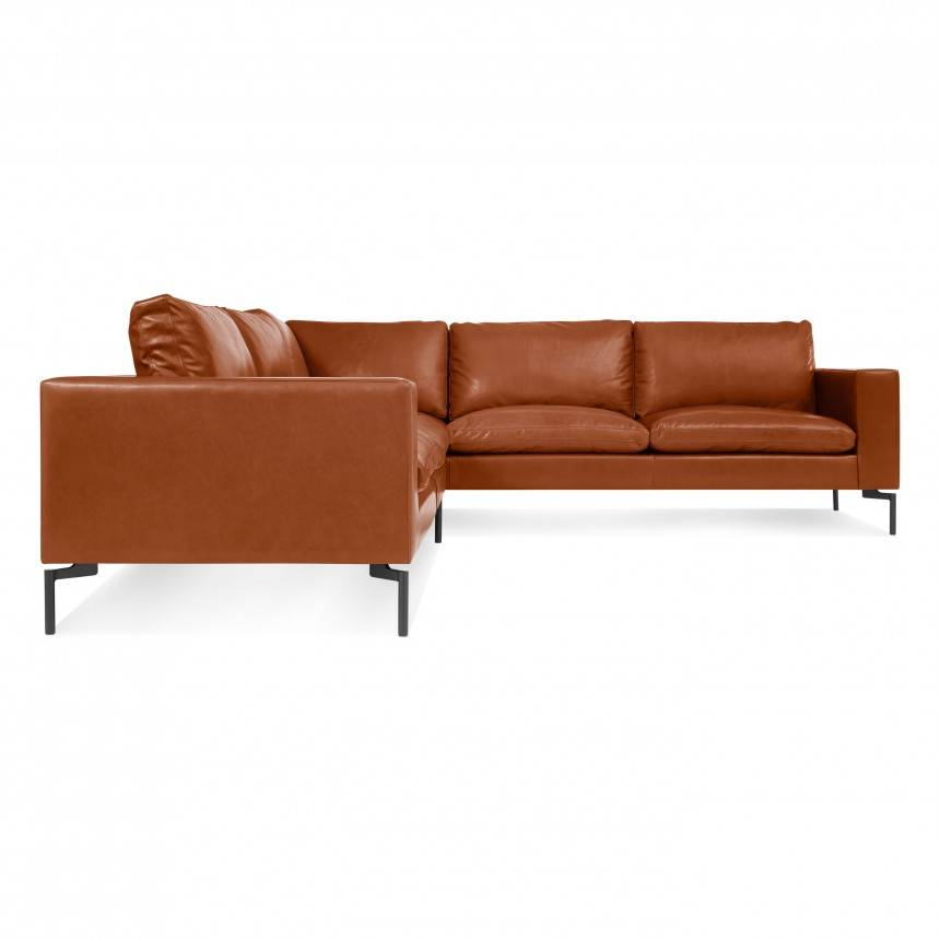 Blu Dot New Standard Right Sectional Sofa Leather