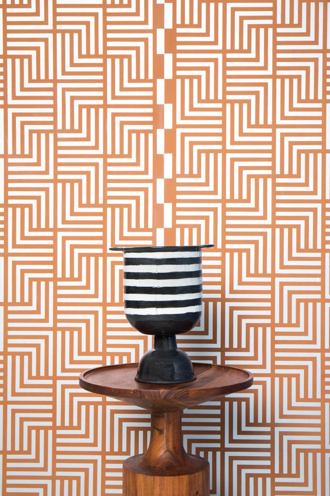 "New Hat Blue Nile Wallpaper (27"" x 30 ft. Roll) Terracotta"