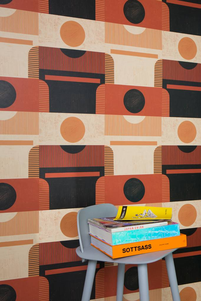 "New Hat Plinth Wallpaper (27"" x 30 ft. Roll) Red Clay"