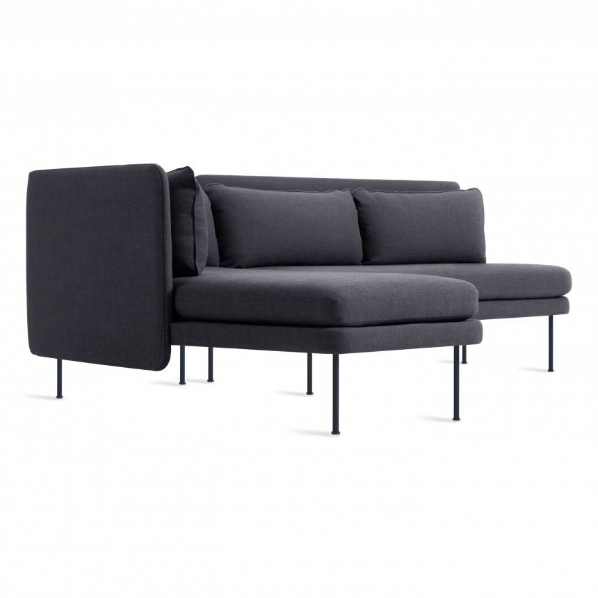 Blu Dot Bloke Armless Sofa with Left Arm Chaise