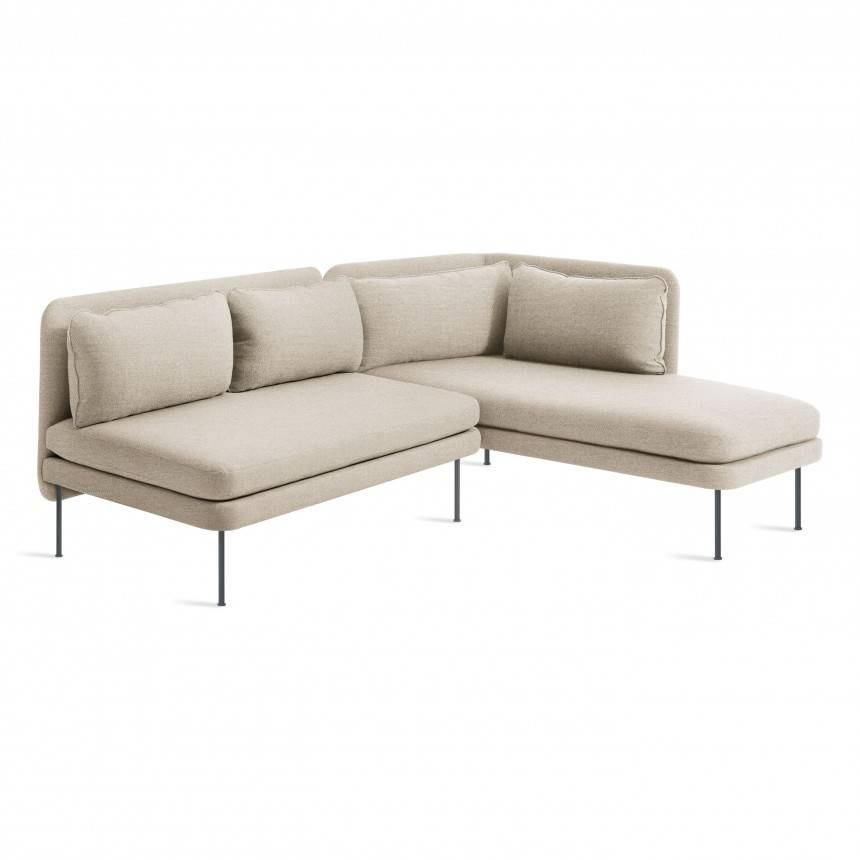Blu Dot Bloke Armless Sofa with Right Arm Chaise