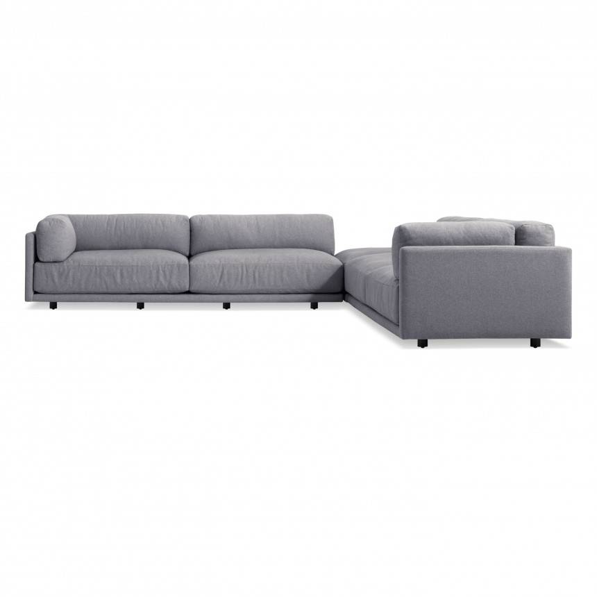 Blu Dot Sunday Backless L Sectional Sofa