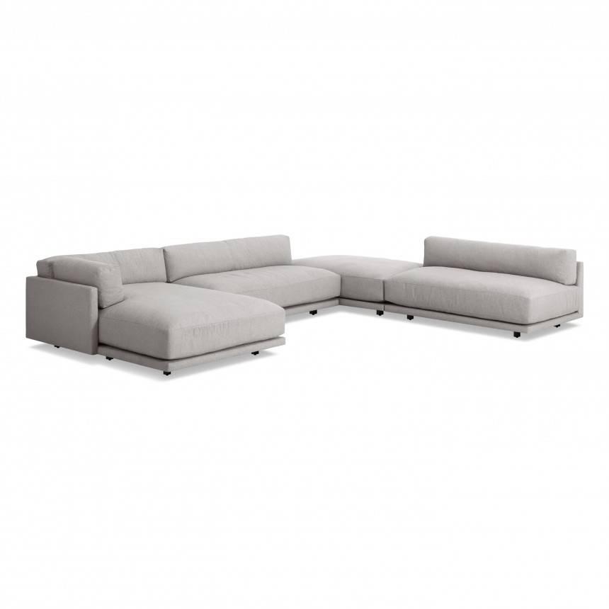 Blu Dot Sunday J Sectional Sofa w/ Left Chaise