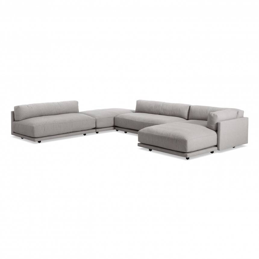 Blu Dot Sunday J Sectional Sofa w/ Right Chaise