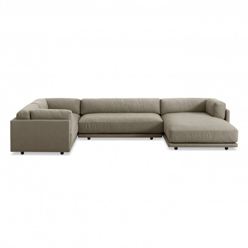 Blu Dot Sunday L Sectional Sofa w/ Right Arm Chaise