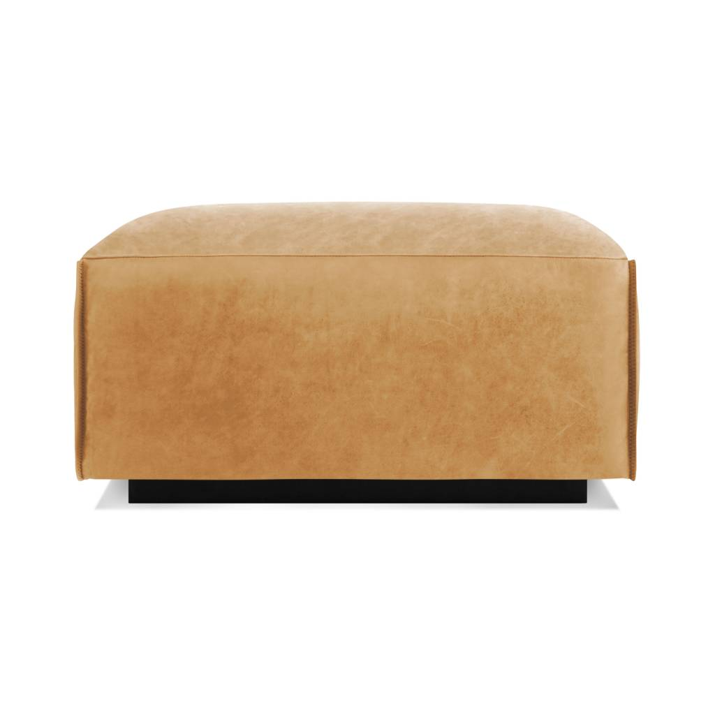 Blu Dot Cleon Leather Ottoman