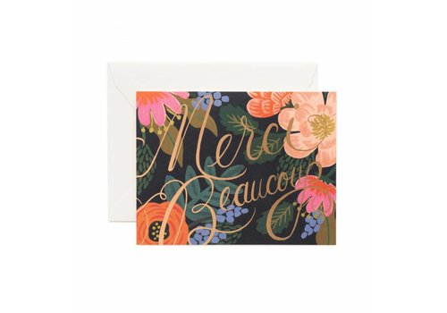 RIFLE PAPER CO CARTE MERCI BEAUCOUP
