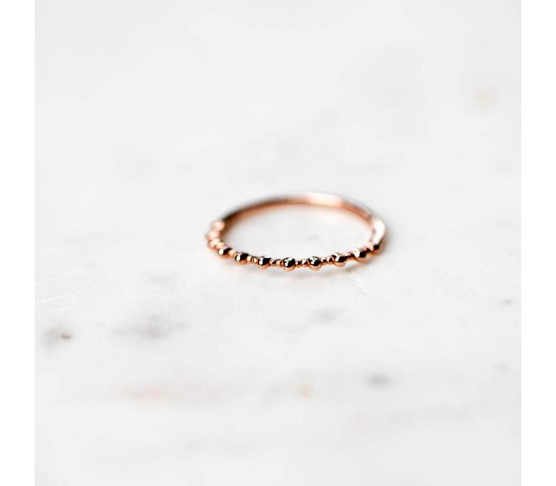 BAGUE LA BASIC ROSE GOLD- grandeur 8