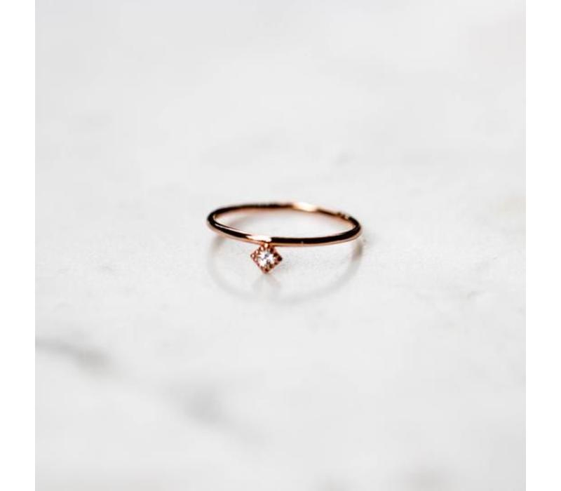 BAGUE LOSANGE- ROSE GOLD