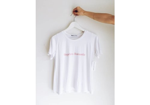 DAILYSTORY T-SHIRT HOPELESS ROMANTIC- BLANC