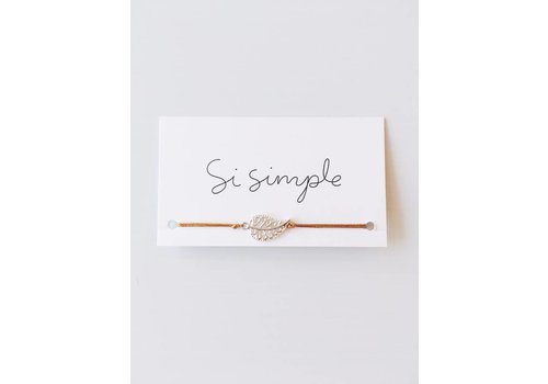 SI SIMPLE BRACELET MIA- MOUTARDE & ARGENT