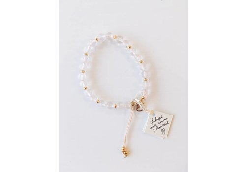 SI SIMPLE BRACELET FAITH- ROSE TRANSPARENT