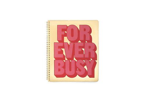 BAN.DO CAHIER DE NOTE LARGE FOREVER BUSY