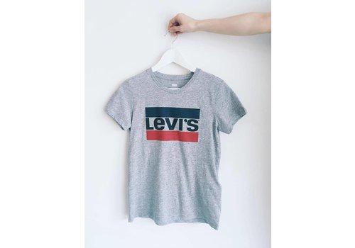 LEVIS T-SHIRT SPORTSWEAR LOGO- GRIS- large