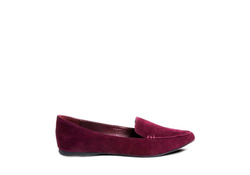 STEVE MADDEN MOCASSIN FEATHER- BURGUNDY