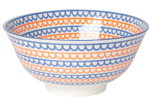 DANICA BOWL STAMPED ORANGE SCALLOP
