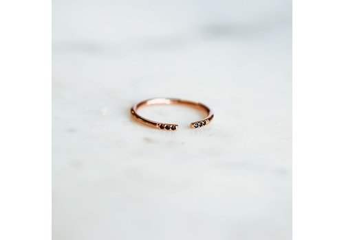 HORACE BAGUE NORA- ROSE GOLD