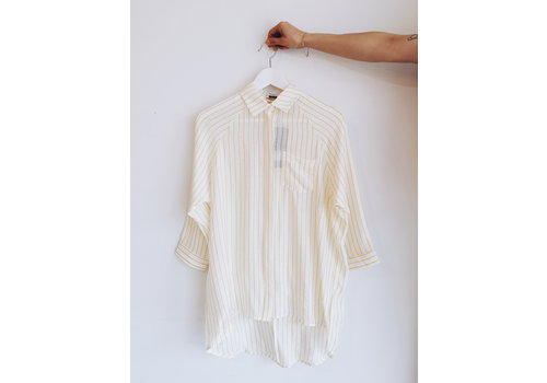 SOAKED IN LUXURY *DERNIÈRE CHANCE* CHEMISE ALTHEA- JAUNE-SMAll