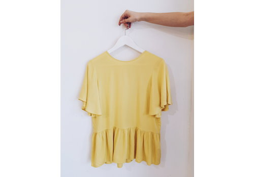 SOAKED IN LUXURY *DERNIÈRE CHANCE* BLOUSE KRISTY- GOLD - SMALL