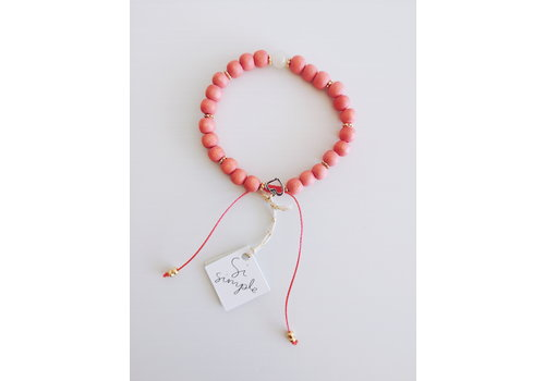 SI SIMPLE BRACELET ROSE- CORAIL