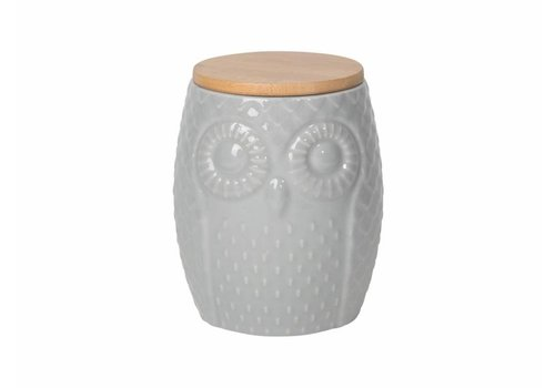 NOW DESIGNS CONTENANT HIBOU LARGE- GRIS