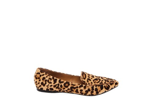 STEVE MADDEN MOCASSIN FEATHER LEOPARD