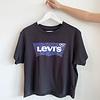 LEVIS T-SHIRT GRAPHIC VARSITY LEOPARD - NOIR