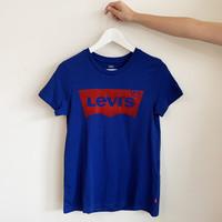 T-SHIRT LEVIS LOGO - BLEU