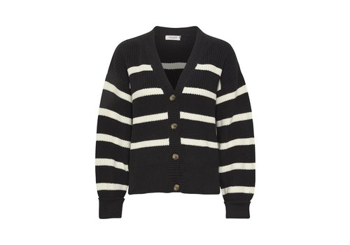 SOAKED IN LUXURY CARDIGAN CUMIN - NOIR/CRÈME