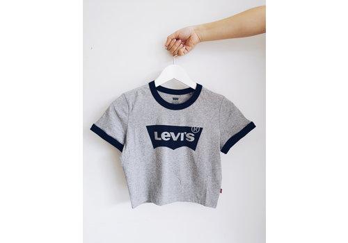 LEVIS T-SHIRT COURT GRAPHIQUE - BLEU/GRIS