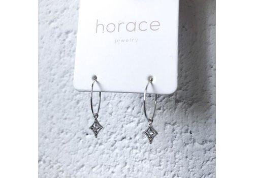 HORACE BOUCLE D'OREILLES KARYA - ARGENT