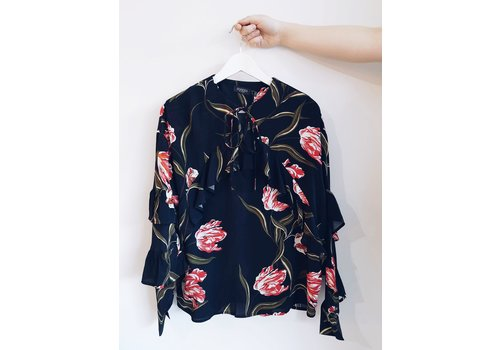 SOAKED IN LUXURY BLOUSE TATUM - TULIPES NOIRES