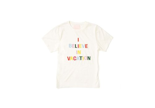 BAN.DO T-SHIRT I BELIEVE IN VACATION - BLANC