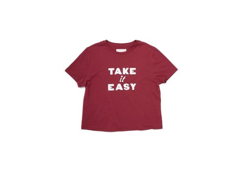 BAN.DO T-SHIRT TAKE IT EASY - ROUGE