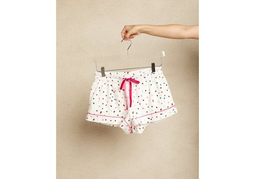 BAN.DO *DERNIÈRE CHANCE* SHORT DE NUIT PARTY DOTS - XSMALL
